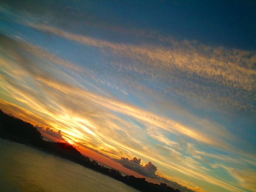 部瀬名岬(ブセナ岬)の夕日