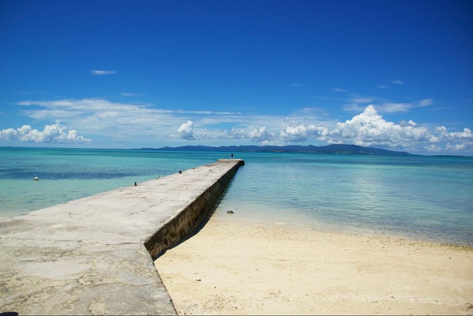 竹富島の西桟橋から見渡す美しい景色
