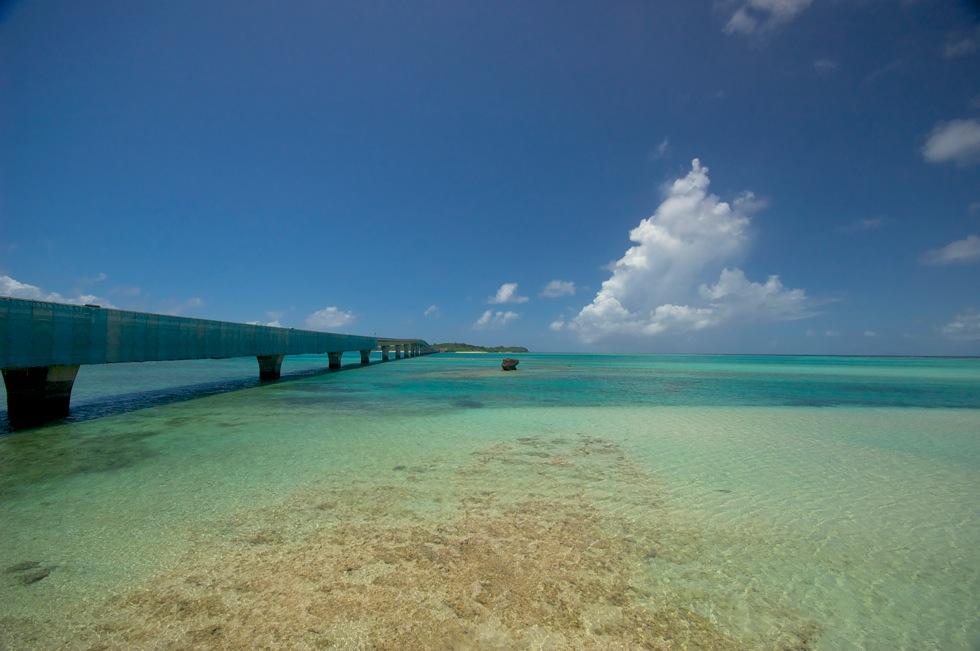 池間大橋 宮古島と池間島を結ぶ大橋 宮古島で一番の絶景