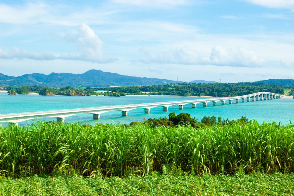 今帰仁村の古宇利島へ。古宇利大橋からの海の絶景。
