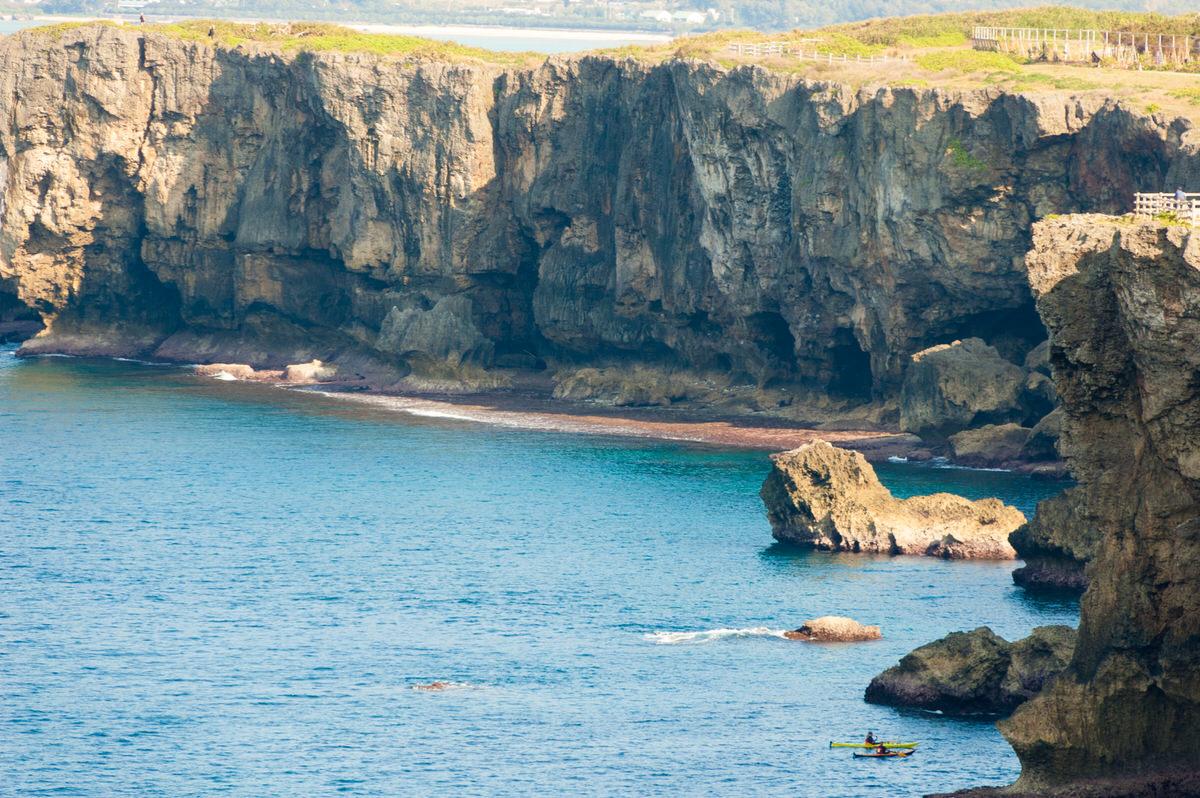 残波岬の断崖