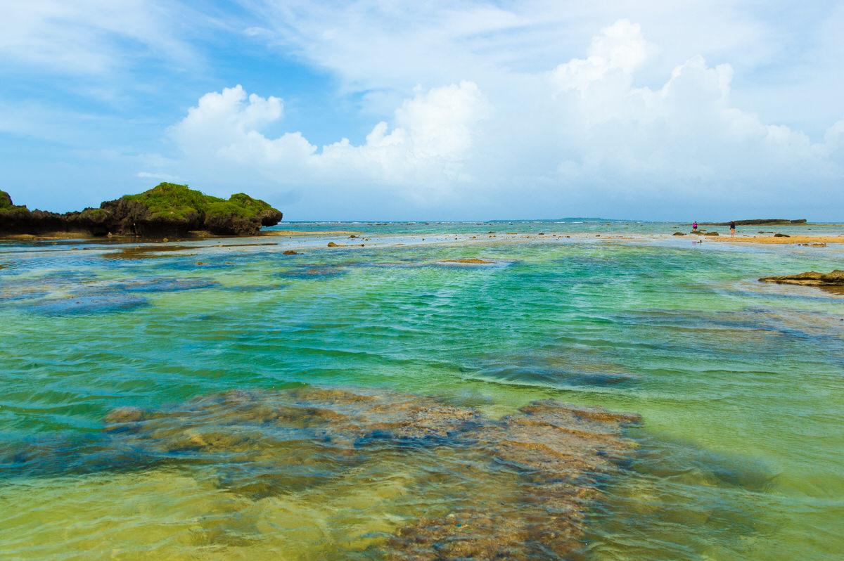 西表島 星砂の浜 干潮時