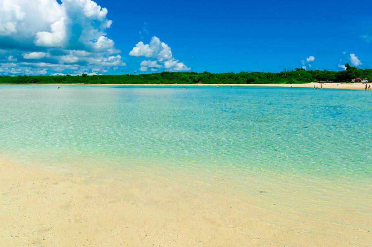 竹富島 コンドイビーチ 遠浅のビーチ