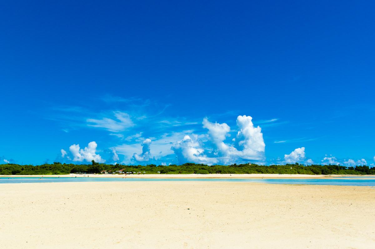 竹富島 コンドイビーチ 沖から眺める