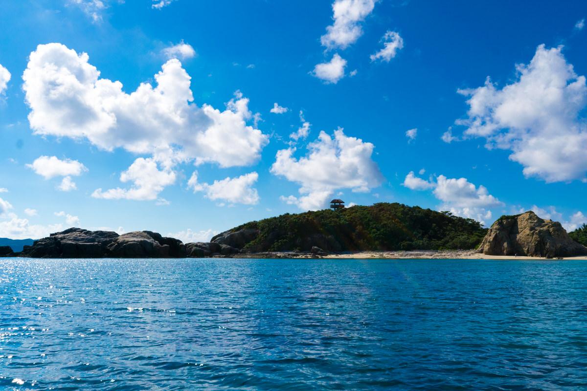 渡嘉敷島 ハナリ島 船渡し