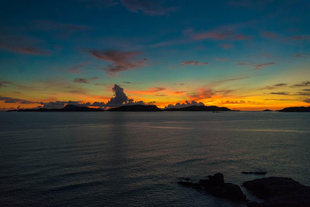 阿波連展望台からの夕日