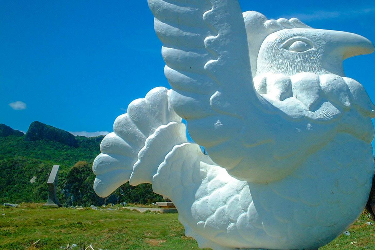 辺戸岬 与論島と国頭村の友好記念碑